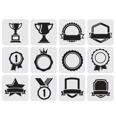 Black award set vector