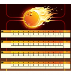 Bowling score card vector