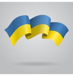 Ukrainian waving flag vector