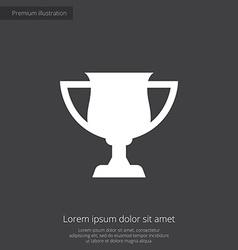 Cup premium icon vector