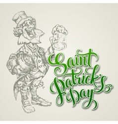 Leprechaun st patricks day vector