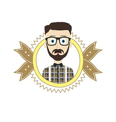 Geek retro guy vector