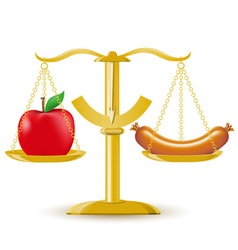Scales choice diet or obesity vector