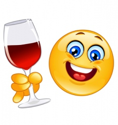 Cheers emoticon vector