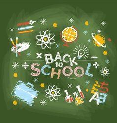 School education heading chalk style vector