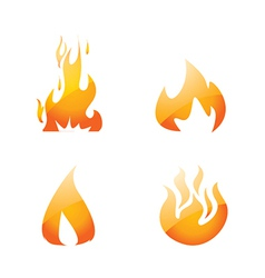 Flame set vector