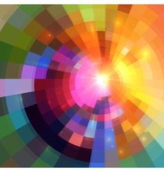 Abstract colorful shining circle tunnel background vector