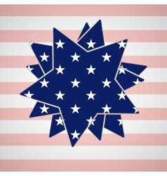 The abstract star with american flag vector