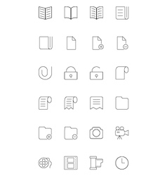 Line icons 4 vector