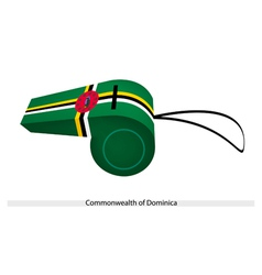 A whistle of the commonwealth of dominica vector