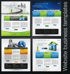 Website set vector