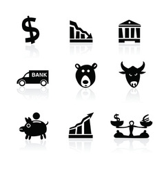 Banking icons hand drawn part 1 vector