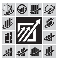Stock market icons vector