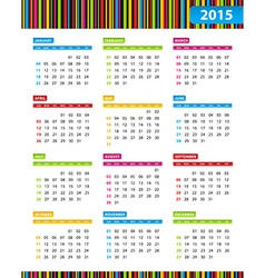 Annual calendar for 2013 year vector