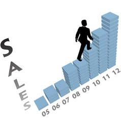 Business sales graph vector