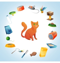 Cat stuff concept vector