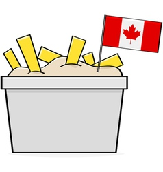Canadian poutine vector