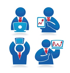 Business people and communication vector