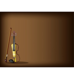 A beautiful modern violin on dark brown background vector