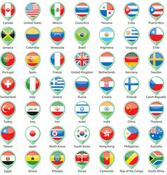 International flags pointer vector