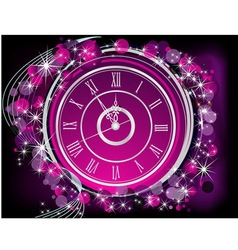 Happy new year background silver and violet vector