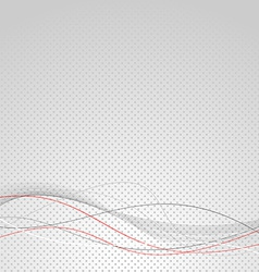 Abstract wave line modern dotted background vector