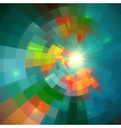 Green shining bright tiled abstract background vector