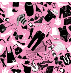 Seamless pattern for fashion design - silhouettes vector