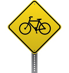 Bicycle crossing sign vector