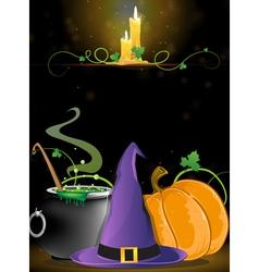 Halloween witch supplies vector