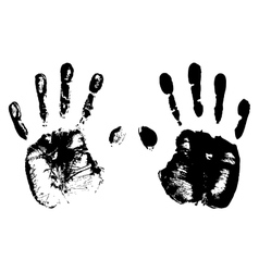 High detailed hand prints vector