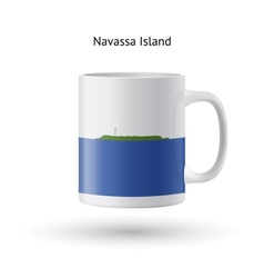 Navassa island flag souvenir mug on white vector