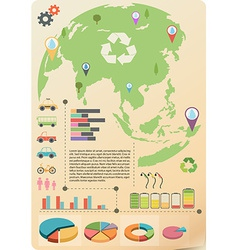 An infographics of the earth vector