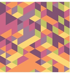 Abstract 3d geometrical background mosaic vector