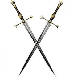 Two crossbones sword vector