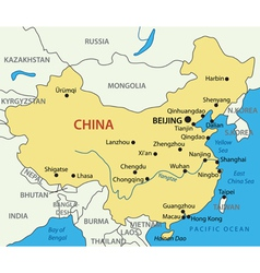Peoples republic of china - map vector