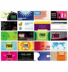 Collection business cards templates vector