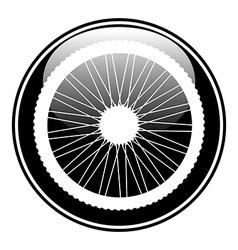 Bicycle wheel button vector