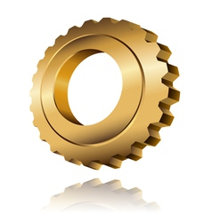 Gold gear vector