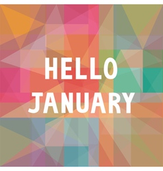 Hello january card1 vector