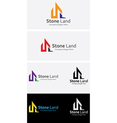 Stone land vector