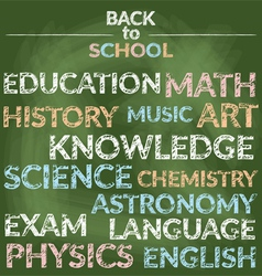 School education branch of knowledge words vector