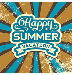 Summer vacation vintage poster vector