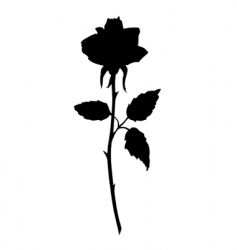 Rose black silhouette vector