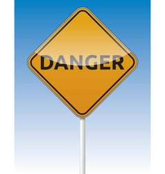 Danger traffic board vector