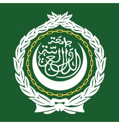 Arab league emblem vector