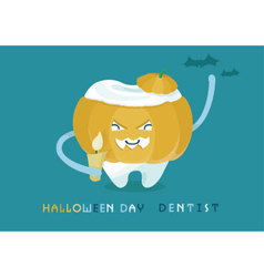 Halloweens day dentist vector