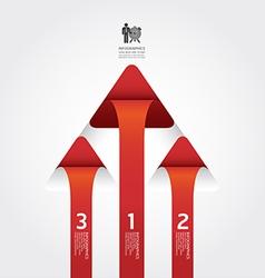 Arrow infographic design vector