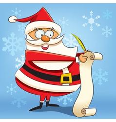 Santa writing wish list vector