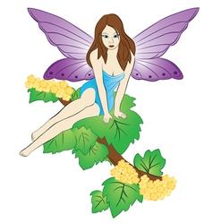 Fairy on the tree vector
